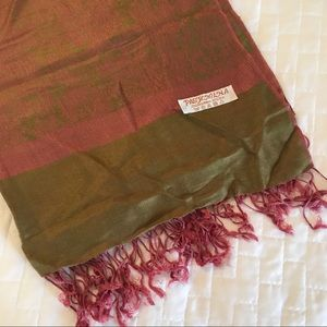 Accessories - Olive & Pink Pashmina